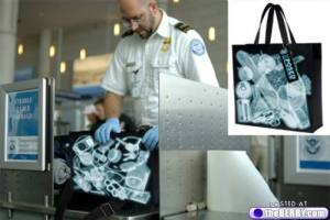 Because it seems to show what's seen in the TSA X-Ray. Then again, the agent isn't buying it.