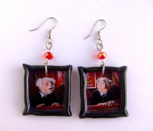 Because there's nothing more fashionable by wearing earrings featuring 2 heckling old guys. By the way, they were based on 2 of Jim Henson's professors who told him he wouldn't make it in puppetry.