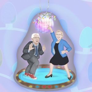 Yes, I know it shows them in a disco. But they'll always be a dream because Bernie lost the Dem primary and Warren had no desire to be veep.