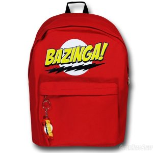 It's similar to Sheldon's Flash backpack with his catchphrase. Let's just say Sheldon would be proud of it.