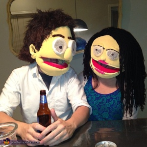 They're just a generic muppet couple. They're not based on any muppet characters. They are their own.