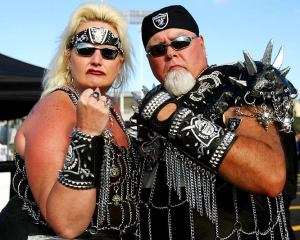 And as far as I know about Raider fans, these two will fit right in. And they'd even be seen as normal in comparison.