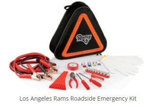 Look, I can understand that an roadside emergency kit is useful. But why go with an overpriced NFL licensed one if you can buy a regular one from almost anywhere? That just doesn't make sense to me.