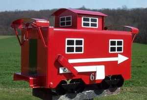 After all, the caboose is usually the end of the train. So I guess the caboose mailbox fits.