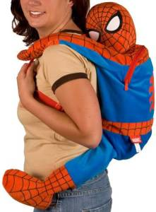 I know this is another Spider Man backpack. But this one has Spider Man literally on your back.