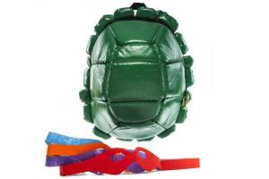 Even come with Ninja Turtle masks so you can play which one. Guess this is for kids.