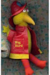 "The kind of doll that gives you second thoughts about calling 911. From Tough Pigs: ""The oddest thing about this doll is that Big Bird looks pissed. Has Big Bird EVER been pissed?"""