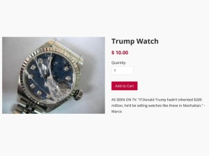 Because if Trump didn't inherit $200 million from his daddy, he'd be selling these. You got that right. He's a trust fund baby con artist.