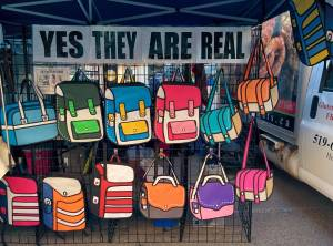 There's a company that makes bags like these. And yes, they may look cartoonish but they're real.