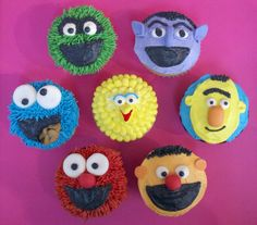 Almost each of these has an Oreo mouth. Included are Oscar, the Count, Bert, Ernie, Elmo, Cookie Monster, and Big Bird.