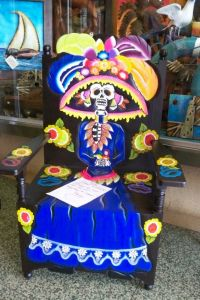 Yes, this is the original Calavera Catrina design. However, I do like her outrageous hat which I think goes well with her blue dress.