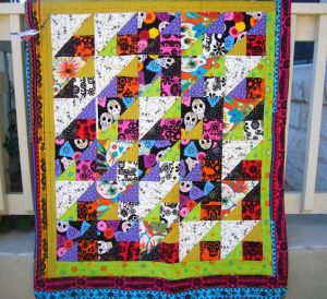 And yes, it has plenty of skulls on it for your heart's heart content. In triangle and square pattern.