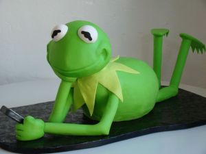 It just has Kermit being his laid back self. Not minding anyone's business but his own.