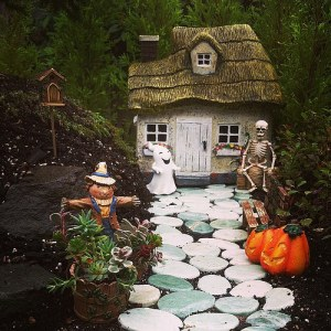Though the ghost always has to bug him. Love the plants near the scarecrow though.