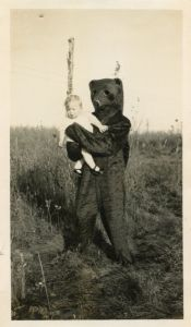 Sure it's just a Halloween costume. But this bear seems to have dead eyes. And I wouldn't trust it with children.
