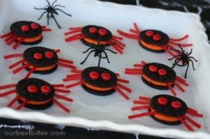 Helps that they used Oreos with red filling. Also with the M&M eyes and twizzler legs.