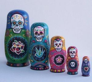 As you can see, they all have skulls on them. They also have bright colors and symbols.