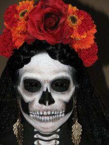 I understand that skeletons aren't supposed to be scary on Dia de los Muertos. But this costume is so good that it doesn't help matters.
