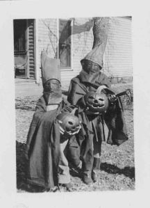 Not sure what they're doing with the jack-o-lanterns. Are they using them as weapons.