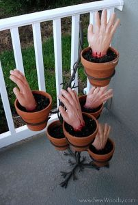 Okay, maybe not how this decoration implies. Still, if I found hands in pots like this, I'd kind of freak out.