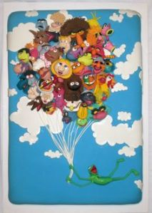 Well, it features Kermit with a bunch of other Muppet balloons. By the way, there's a 3D version of this one.