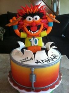 After all, Animal plays the drums. Guess this is for a kid's 10th birthday. Fair enough.