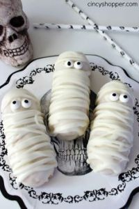 Just put them in icing, add drizzle, and add eyes. And yes, you'll want to eat these up.