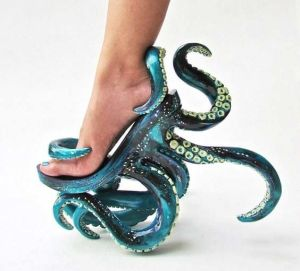 Wonder if it's available in purple for those who want to dress up as Ursula. Then again, normal shoes will do.