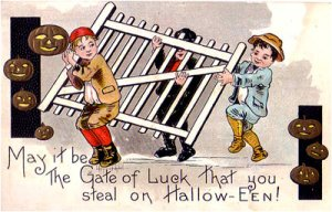 "From I-Mockery: ""Well, now we know why they were stealing it... they were stealing the Gate of Luck! Of course! Why didn't I think of that! If there's one thing I like to do every Halloween, it's stealing gates from people's homes!"""