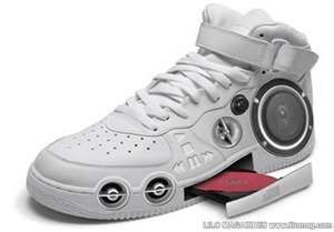 A CD player sneaker. wonder how that works. Wonder if I even want this.