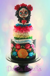 I think this is supposed to be a cutesy rendition of La Calavera Catrina. More on her later.