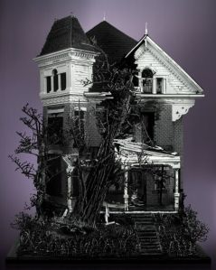 This has to be done by an artist. But it certainly seems like a house you'd see in a horror movie.