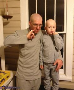 """I shall call him Mini Me."" Still, seems like a fairly easy costume. But I doubt this Mini Me is old enough for Austin Powers to understand."