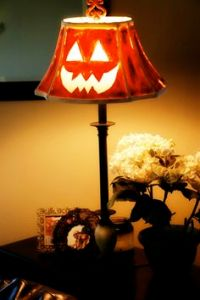 It's just a lamp with a jack-o-lantern face. Nothing to see here because jack-o-lanterns aren't really scary.