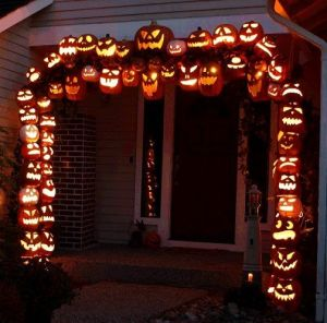 Lights up at night, too. Still, hope you have a lot of craft pumpkins and carving time for this.