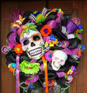This one has skulls, flowers, ribbons, and more. What else could you want?