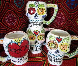 Seems like these skull mugs almost give the word a whole new meaning. Like the one with the sacred heart.