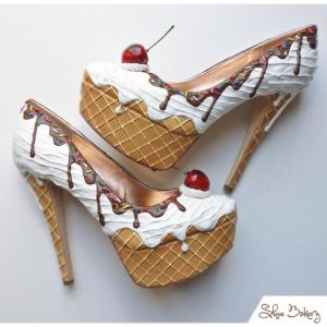 They even have platform and heels on the cones. Not to mention, the cherry on top.