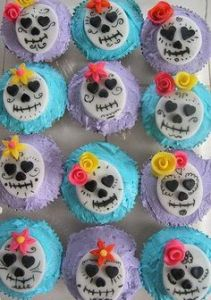 Seem quite adorable for an image that pertains to death. Love the flowers and icing though.