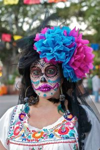 Well, that's a little flashy for my taste. Not sure what I think about that. Might be from a Dia de los Muertos in Vegas.