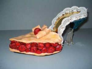 Yes, this is a cherry pie shoe. But the heel is quite forked.
