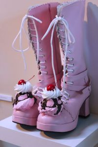Well, strawberry sundae boots anyway. Got to love how they're topped with fudge, cherries, and whipped cream.