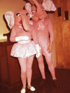 Pink elephant is a euphemism for a drunken hallucination. But these pink elephants are freaking nightmares in living color.
