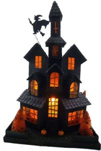 Then again, it might be a witch's home she shares with ghosts. Yet, love the windows in this one.