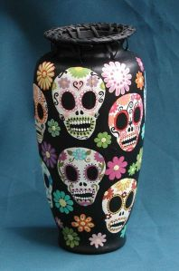 Sure people might think you're a bit too into the Addams family. But these skulls are richly decorated for Day of the Dead.