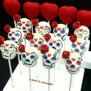 Yes, these are skull cake pops with roses in them. But each of them sure look just as lovely.