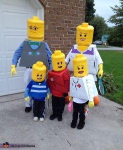 So I guess this family decided to go as a Lego version of themselves. Makes sense, to a point.