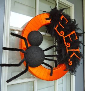 Actually that's part of the decoration since it's for Halloween. But try explaining that to an arachnaphobe.