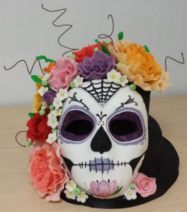 Well, the flowers are all over the skull in this one. But I can't help but adore it.