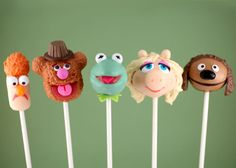 Includes Beaker, Fozzie, Kermit, Miss Piggy, and Rowlf. And I hope each one has a chocolate center.